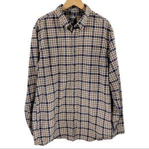 Eddie Bauer Tall Men's Cotton Flannel Button-Down